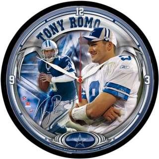 Dallas Cowboys Clocks Wincraft Dallas Cowboys Tony Romo Player Clock