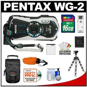 Pentax Optio WG 2 Shock & Waterproof GPS Digital Camera (Gloss White