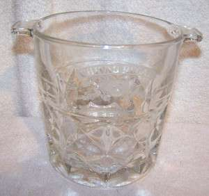 CHIVAS REGAL 12 Ice Bucket holder Waffle Clear Glass Bar Drink