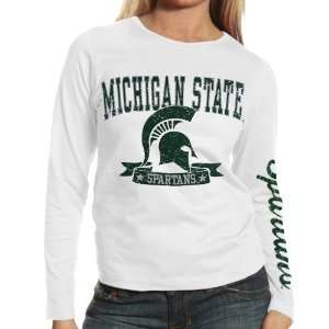 Spartans Ladies White Knockout Long Sleeve T shirt Sports & Outdoors