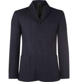 Clothing  Blazers  Single breasted  Wool Blend Jersey Jacket