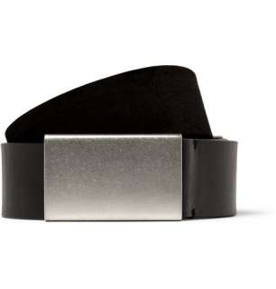 Maison Martin Margiela Reversible Suede and Leather Belt  MR PORTER