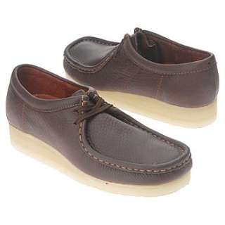 Mens Clarks Wallabee Low Brown Oily Leather Shoes