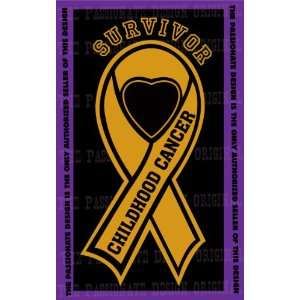 Childhood Cancer Ribbon Decal 6 X 11 Everything Else