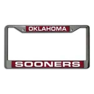 Oklahoma Sooners OU NCAA Laser Cut Chrome License Plate