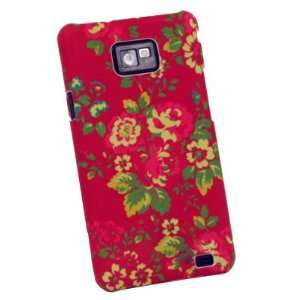 Red Flower Hard Skin Cover Case For Samsung Galaxy S2 S II