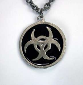 NEW BIO HAZARD NECKLACE GOTHIC BURLESQUE INDUSTRIAL