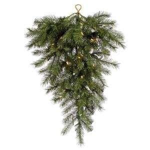 36 Albany Spruce Christmas Tear Drop w/ 120T 50 Dura Lit Clear Lights