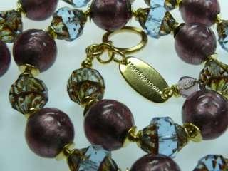 MADDYS Halskette Venezia Murano Perlen blau violett Italy Nostalgie