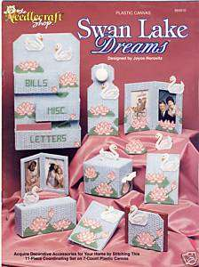Plastic Canvas Book SWAN LAKE DREAMS~11 DESIGNS holder