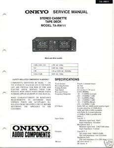 Original Service Manual Onkyo TA RW11 Cassette Deck