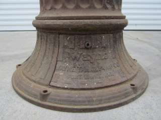 RARE WAYNE 492 ROMAN COLUMN 10 GALLON VISIBLE GAS PUMP GASOLINE