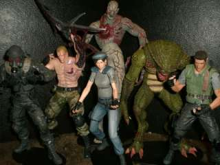 NECA RESIDENT EVIL lot Krauser Jill Valentine Chris Redfield Tyrant