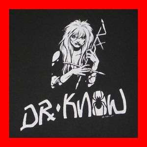 VTG DR KNOW TOUR T SHIRT OG 80s EXPLOITED BAD BRAINS