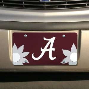 NCAA Alabama Crimson Tide Crimson Mirrored Flower Power
