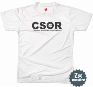 CSOR Canadian Spec Ops Army Military Cool New T shirt