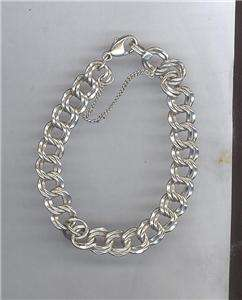 James Avery Sterling Silver HEAVY Duty Double Linked Curb Charm