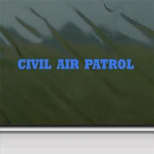 CIVIL AIR PATROL Banner USAF Blue Decal Window Blue Sticker