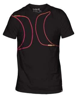 Mens Hurley Chords Tee Shirt Black Multiple Sizes NWT