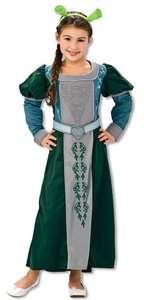 Shrek Princess Fiona Dress Child Girls Costume NEW