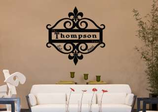 LIS PERSONALIZED Family Name Est Date Vinyl Wall Decal Sticker
