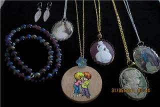 Bulk Lot Cameo Necklaces Gold Silver Vintage Earrings