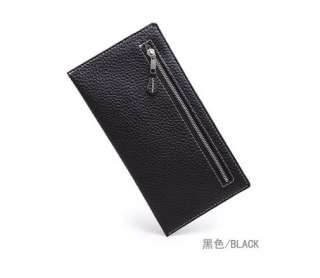 Multicolor long thin PU leather purse handbag Bag Wallet billfold WC