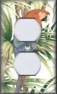 Light Switch Plate Cover   Bathroom Decor   Tropical Parrot Bird