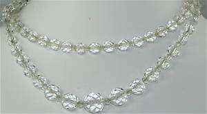 SEPARATE VINTAGE 1930S CLEAR CRYSTAL NECKLACE