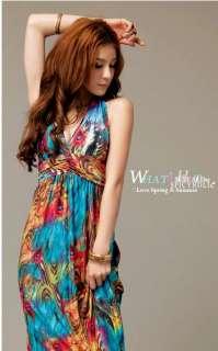 Colors New Womens Bohemia Halter Summer Long Beach Dress Maxi Skirt