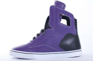 NEW MENS RADII NOBLE PURPLE BLACK PERFORATED HIGH TOP SNEAKERS SHOES