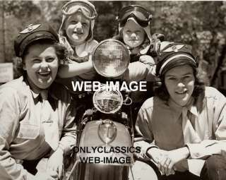 1948 HARLEY DAVIDSON FL MOTORCYCLE CLUB PHOTO WOMAN KID