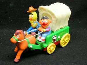 Bert & Ernie Sesame Street Covered Wagon moving toy