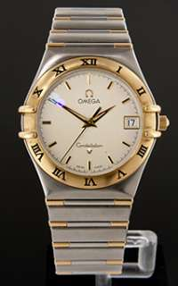 Omega Constellation 18k Gold and Stainless Steel Mens Quartz Watch