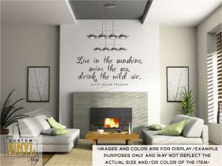 the sea, drink the wild air   Vinyl Wall Decal Sticker Decor Graphic