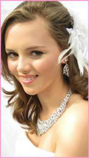 Stunning Bridal Necklace Earring Set Vintage Romantic Style