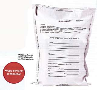 Bank Deposit Tamper Proof Bags Opaque Pack of 500 bags