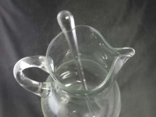 Clear Glass Cocktail Pitcher Glass Drink Beverage Stirrer Stir Stick