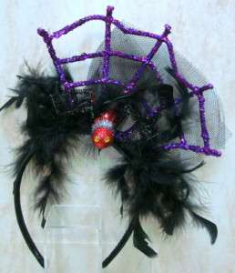 HALLOWEEN Spider Web HEADBAND Mardi Gras HAIR TC5603