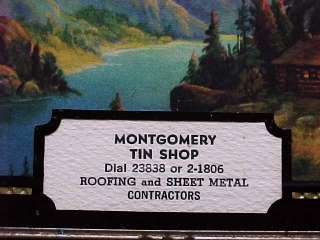 Thermometer  Montgomery Tin Shop   Mountain Scene   Horse