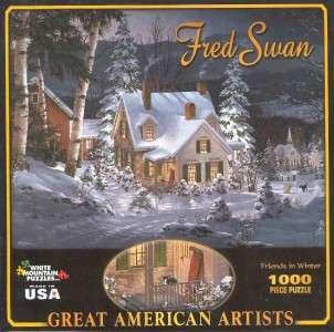 Fred Swan Jigsaw PuzzleFriends in Winter NIB