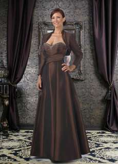 Pageant Mother of the Bride Dress Formal Gown Beaded With Jacket