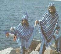 Knit Crochet patterns Pingouin Poncho Hat Shawl Afghan+