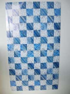 Dollhouse Faux Marble Flooring Jumbo Sheet Blue/White