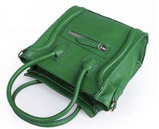 New Genuine Calfskin Leather Gossip Girl Style Smile Shoulder Bag 11