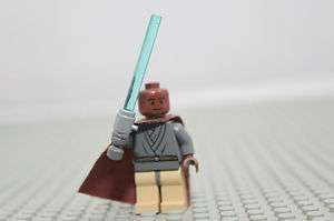 Rare Lego Star Wars Mace Windu w/ Light up Lightsaber