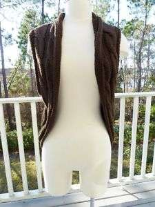 FOREVER TWENTYONE Shrug Sweater Jacket Brown Sz L New