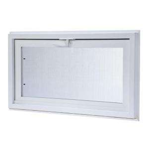 TAFCO WINDOWS Vinyl Hopper Window, 32 in. x 18 in. White with Dual