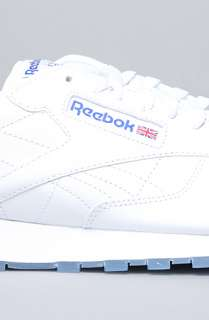 Reebok The Classic Leather Ice Sneaker in White Royal : Karmaloop