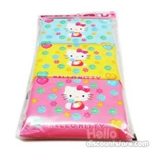Sanrio Hello Kitty Flower scent Travel Tissue 3 packs